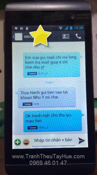 Tin nhắn chị Hạnh thông báo chuyển tiền