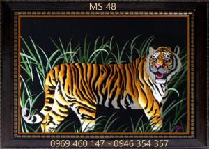 tranh thêu hổ 48
