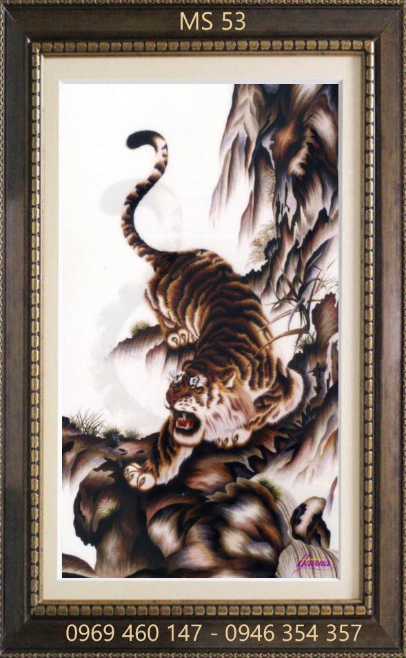 tranh thêu hổ 53