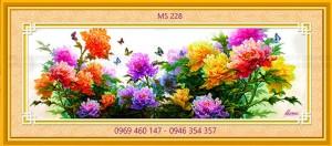 tranh thêu hoa mẫu đơn 228