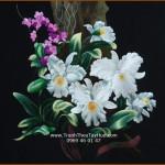 SẮC VÓC RỰC RỠ CỦA tranh thêu hoa