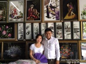 Tranh thêu tay truyền thống Huế thăm đối tác lớn ở miền Trung