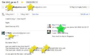 email đặt tranh của khách hàng