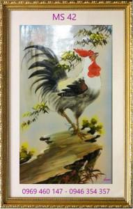 tranh thêu con gà 42