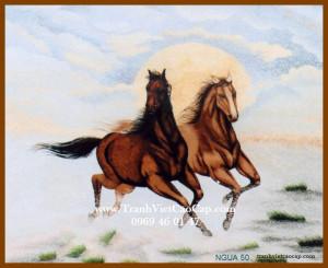 tranh thêu ngựa mã đáo thành công 50