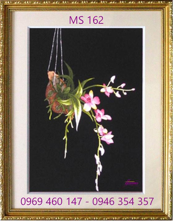 tranh thêu hoa lan 162