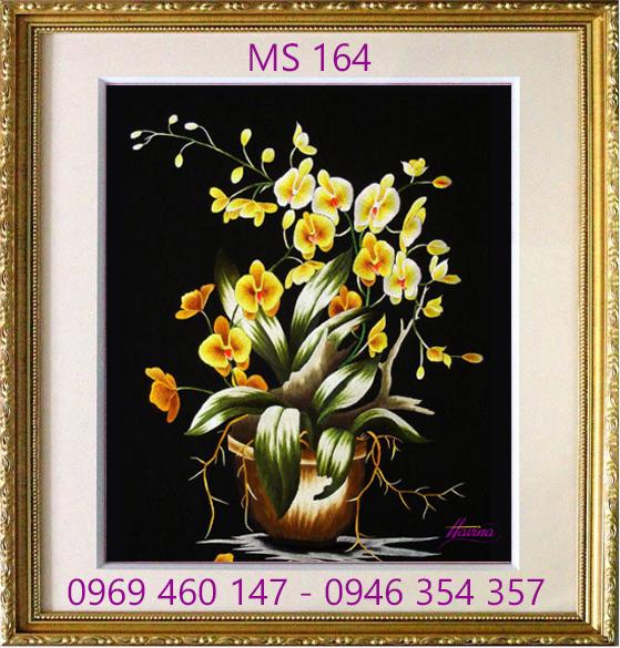 tranh thêu hoa lan 164
