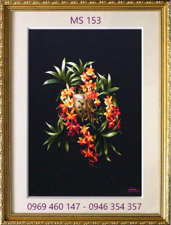 tranh thêu hoa lan 153
