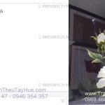 Giao tranh thêu hoa hồng đến chị Hà, Quận 12, TP.HCM