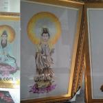 Tranh thêu Phật Bà Quan Âm Bồ Tát – Tranh thêu treo phòng thờ