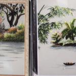 Tranh thêu phong cảnh làng quê giao đến anh Sỹ ở Tp. Vinh