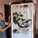 Tranh thêu tùng hạc diên niên giao đến anh Thắng ở Hóc Môn, TP.HCM