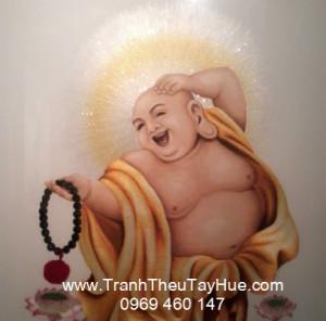 Tranh thêu Phật Di Lặc