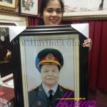 Tranh thêu chân dung cho vị tướng quân đội nhân dân Việt Nam nhân dịp Đại Lễ 30/04