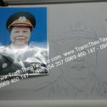 TRANH THÊU CHÂN DUNG CHO VỊ TƯỚNG QUÂN ĐỘI NHÂN DÂN VIỆT NAM NHÂN DIỆP ĐẠI LỄ 30/04