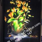 Tranh thêu hoa lan giao đến chị Tâm ở  Vĩnh Linh Quảng Trị