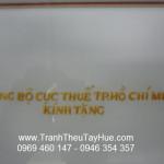 Tranh thêu tay theo yêu cầu cho cục thuế TPHCM