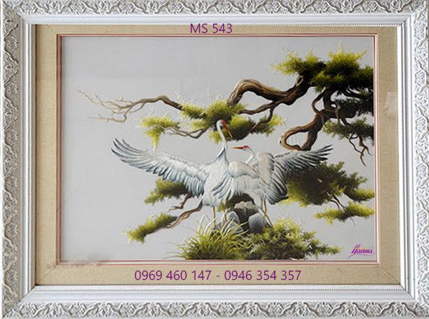 tranh thêu tùng hạc diên niên 543