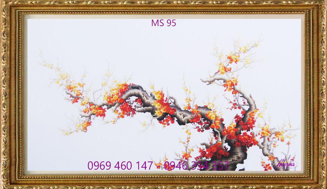 tranh t5êu hoa đào 95