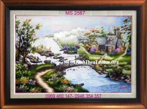 Tranh thêu phong cảnh 267