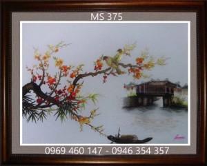 tranh thêu phong cảnh làng quê 375