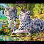 Tranh thêu con hổ theo yêu cầu anh Phong cty xây dựng Fico