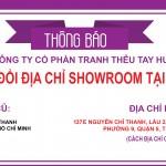 THÔNG BÁO  Thay đổi địa chỉ Showroom tại TP. Hồ Chí Minh