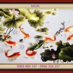 GIAO Tranh thêu cá chép hoa sen MS 06 CHO CHỊ GIANG ĐƯỜNG HOÀNG VĂN THỤ, P15, PHÚ NHUẬN, TP.HCM