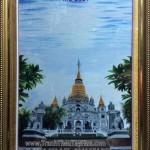 Tranh thêu tay Huế hoàn thành tác phẩm tranh thêu Chùa Bửu Long, Quận 9, TP.HCM