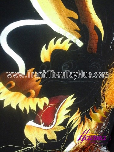 Tác Phẩm Tranh Thêu Con Rồng Ms 701 Theo Yêu Cầu Của Anh Luân Ở Cần Thơ