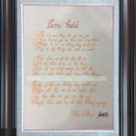 """Tranh thêu tay Huế hoàn thiện tranh thêu """"bài thơ Con Hiểu"""" theo yêu cầu anh Tùng, đường Bà Hạt, Quận 10, TP.HCM"""