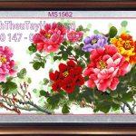 Tranh thêu hoa mẫu đơn 9 bông mang đến hạnh phúc viên mãn cho gia đình bạn