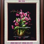 Tranh thêu truyền thống hoa lan và ý nghĩa của tranh thêu hoa lan