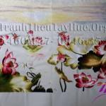 Hoàn thiện tranh thêu hoa sen mã số 286 cho chị Hảo ở Q3, TP.HCM
