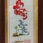 Tranh thêu tay Huế hoàn thiện bức tranh Tri ân ý nghĩa cho chị Thủy ở Sa Đéc