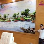 HAVINA hoàn thiện tác phẩm tranh thêu phong cảnh làng quê lớn nhất Việt Nam cho Tuần lễ cấp cao APEC 2017 tại Đà Nẵng