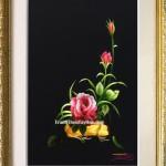 Hoàn thiện 2 bức tranh thêu hoa hồng ms 130 và ms 135 cho chị Quỳnh ở Hóc Môn