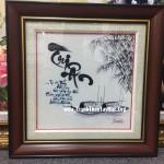 Anh Thuấn mua tranh thêu tri ân MS 294 tặng Thầy giáo về hưu