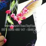 Hòan thiện 2 bức tranh thêu nón lá hoa sen ms 2499 – món quà mà chị Mai tặng đối tác công ty