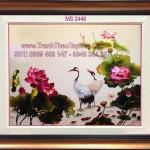 3 lý do khiến bạn không thể bỏ qua một bức tranh thêu chim hạc hoa sen