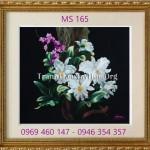 Tranh thêu hoa lan – Vẻ đẹp hoàn mỹ của sự tinh tế