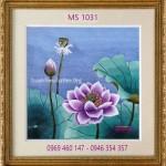 Tranh thêu hoa sen – Bức tranh của sự an yên và hạnh phúc