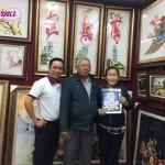 Hoàn thiện tranh thêu Phật Bà Quan Âm ms 1114 cho vợ chồng chú Năm đến từ Tiền Giang