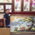 """Tranh thêu phong cảnh đồng quê –  Quà tặng ưa thích của nhiều """"dân chơi tranh"""""""