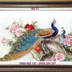 Tranh thêu chim công – Quà cưới độc đáo và vô cùng ý nghĩa
