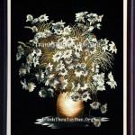 Tranh thêu hoa cúc – Sức hút khó cưỡng từ loài hoa nhỏ bé