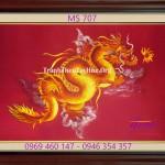 Ý nghĩa tranh thêu con rồng trong phong thủy