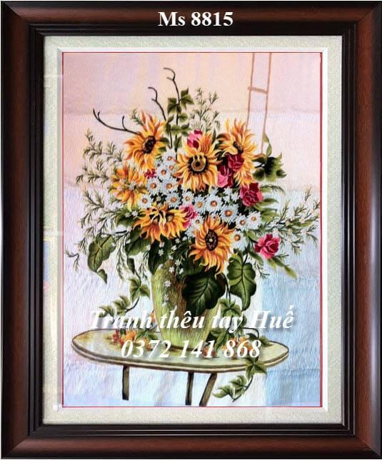 tranh thêu hoa hướng dương