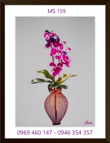 tranh thêu hoa lan 159