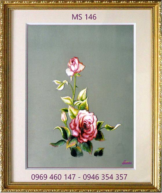 tranh thêu hoa hồng 146